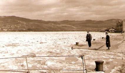 Als man im Winter zu Fuß über die Donau gehen konnte…