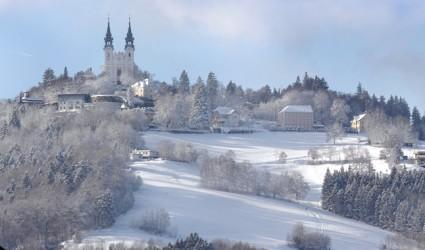 Der Pöstlingberg als Skisprung-Mekka Oberösterreichs