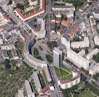 Das geplante Hochhaus am Bulgariplatz lässt weiter auf sich warten.