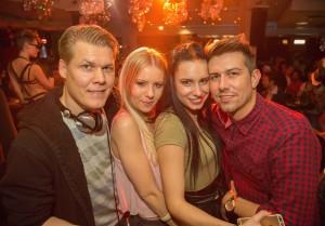 DJ Tom Silver, Samantha Schmidt, Daniela Rakic, DJ Mark Neo