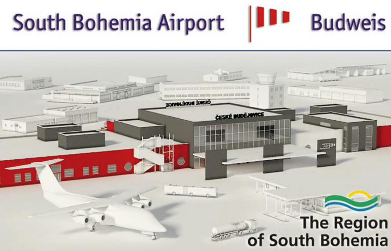 Der Bohemia Airport Budweis nach dem Ausbau 2020