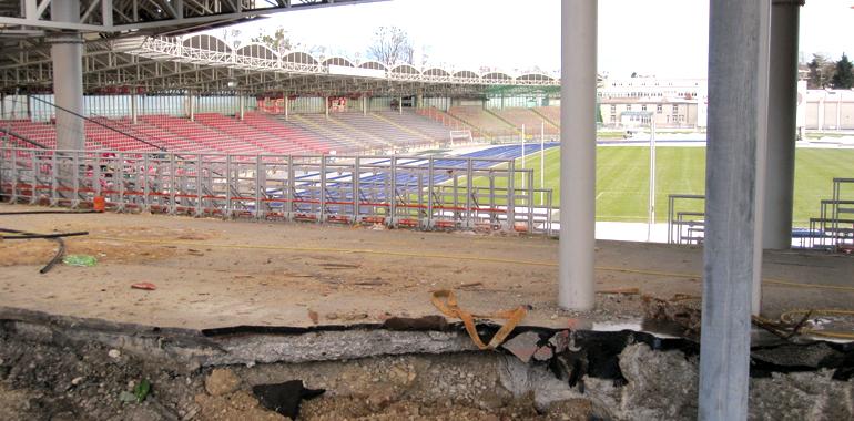 Das Linzer Stadion beim letzten Umbau 2012.