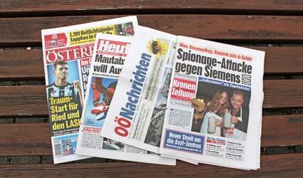 Sinkende Print-Auflagenentwicklung bei den OÖ Tageszeitungen, Boom bei E-Papers