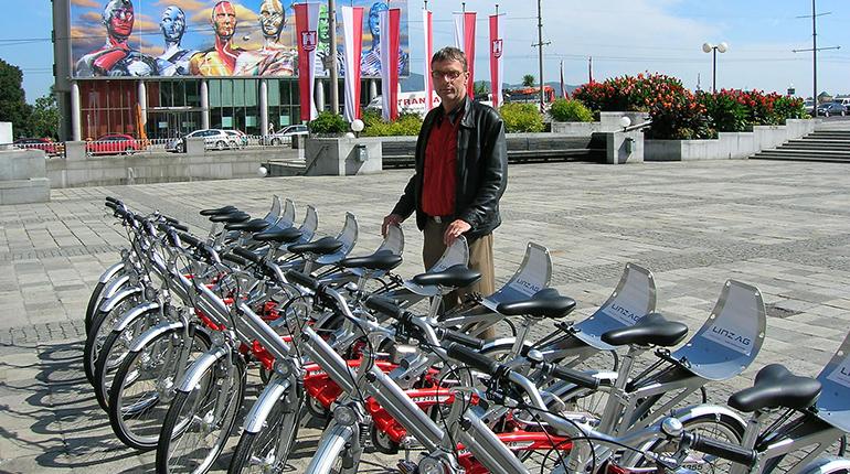Scheiterte 2006 mit der Idee eines Radverleihs: der damalige Stadtrat Jürgen Himmelbauer (Grüne)