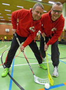 "Floorball-Pioniere: Armin Graditschnig (links) und Gerold ""The Voice"" Rachlinger"