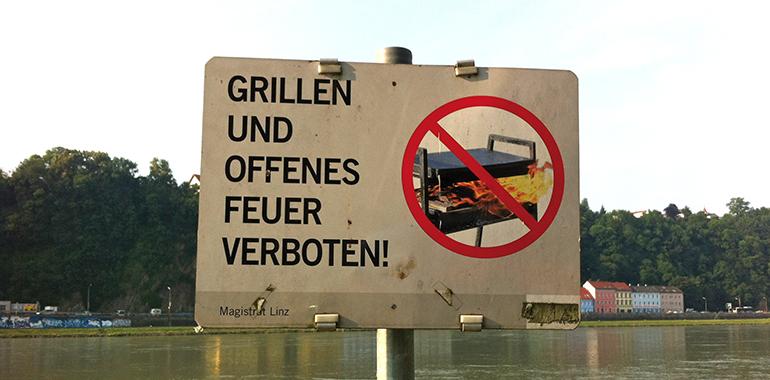 Öffentliches Grillen in Linz: eine unendliche Geschichte