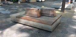 Auch mit Siitzgelegenheiten wird in Wiens City nicht gegeizt.