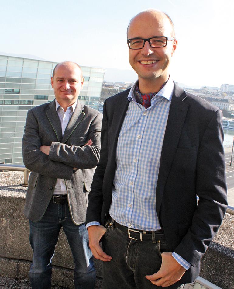 """Wimmer mit seinem Stadtregierungs-Kollegen Markus Hein: """"In der Politik muss man nicht ständig mit dem Finger auf andere zeigen""""."""""""
