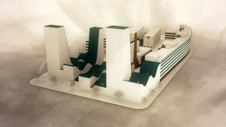 Konzeptidee des geplanten Neubau 3 der Tabakfabrik Linz. Foto: recfex digital media