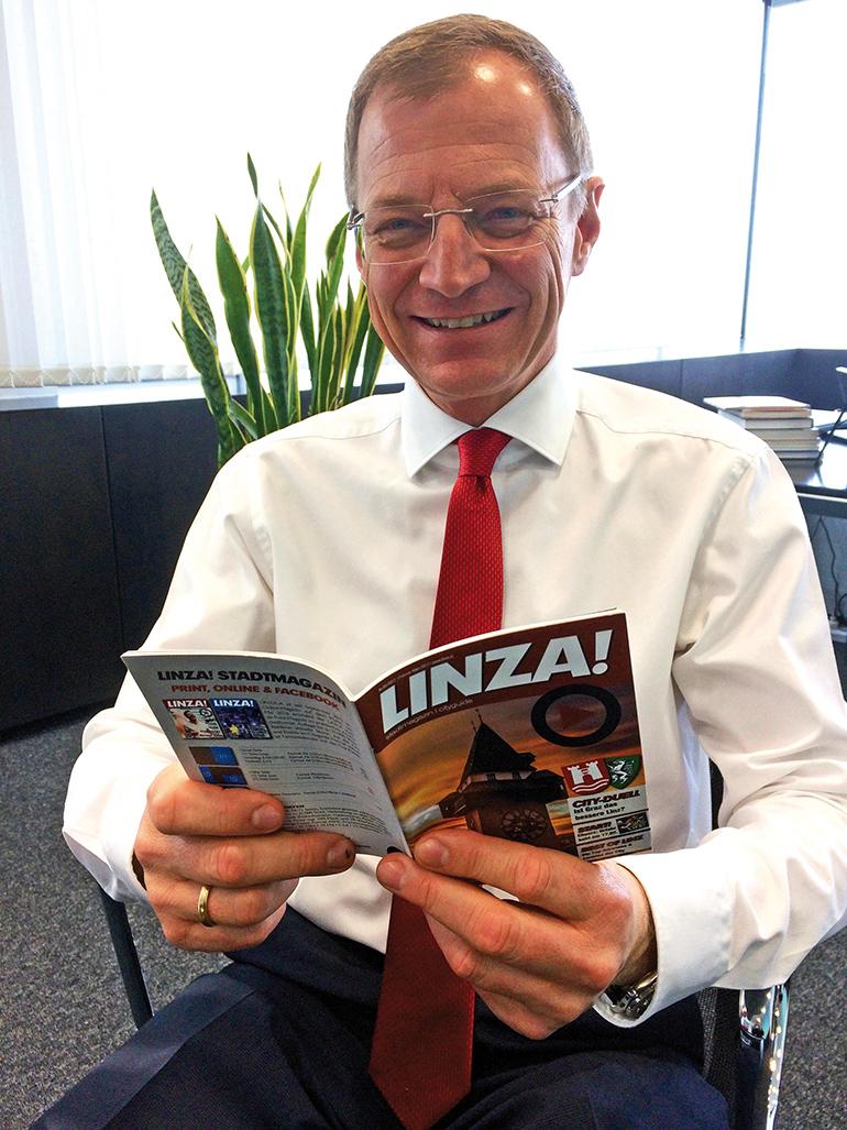 Ein echter, gebürtiger 'LINZA': Thomas Stelzer