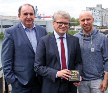 Die Bubble Days-Ermöglicher (v.l.): LINZ AG-Boss Erich Haider, Bürgermeister Klaus Luger und Veranstalter Jörg Neumayr.
