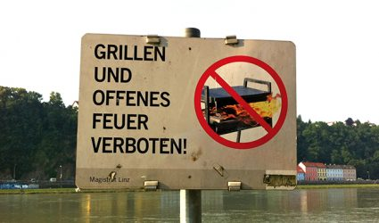 Erneute Rufe nach Grillverbot am Pleschingersee