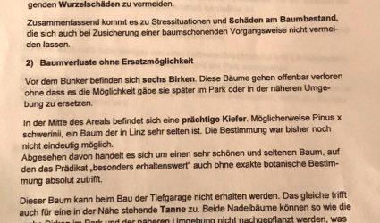 Andreas-Hofer-Park: Absprache zwischen Stadt Linz und Baukonzern Swietelsky?
