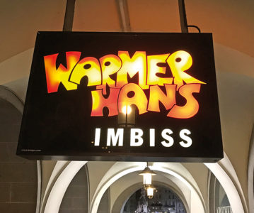 Das Logo des Warmen Hans stammt aus der Feder von Gerhard Haderer
