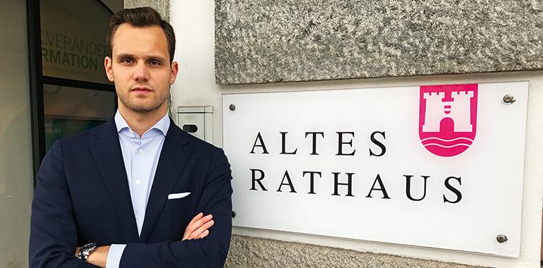 NEOS-Gemeinderat Felix Eypeltauer