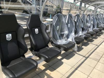 Schick: die neue Coaching-Zone in der TGW-Arena