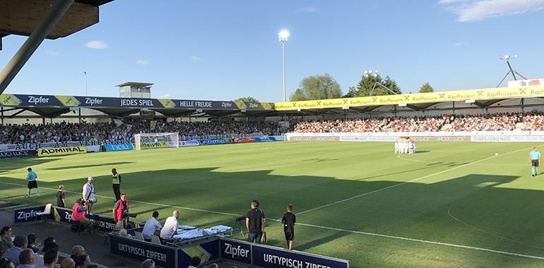 In der TGW-Arena in Pasching spielt der LASK bis 2022.