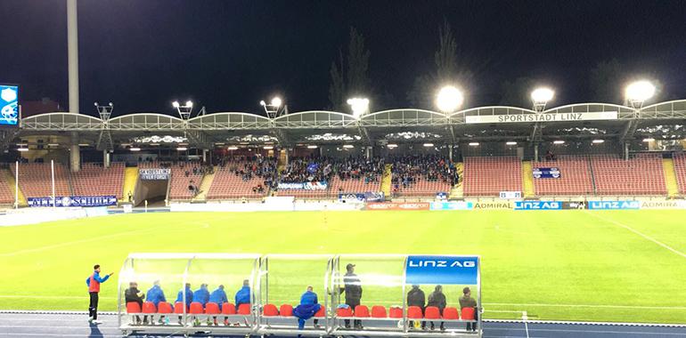 Heimspielstätte des FC Blauweiß Linz: das Linzer Stadion