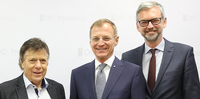 Frischer Wind für Hinterstoder (v.l.): Investor Peter Schröcksnadel, LH Thomas Stelzer und LH-Stv. Michael Strugl.