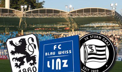 Blau-Weiß Linz fordert Sturm Graz und 1860 München