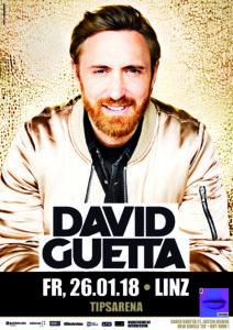 Das offizielle Plakat zum Guetta-Gastspiel in Linz