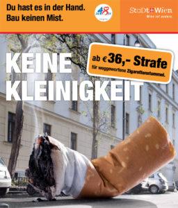 So macht's Wien: mit einer breiten Kampagne und entsprechender Ahndung in den Straßen.