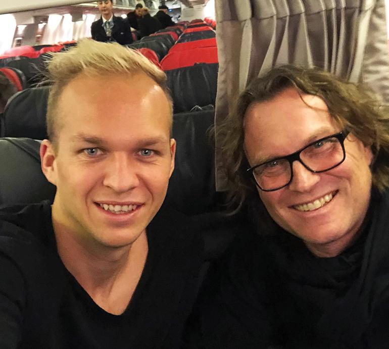 Spielerberater Alexander Sperr mit einem seiner Schützlinge, Austria-Kapitän Raphael Holzhauser