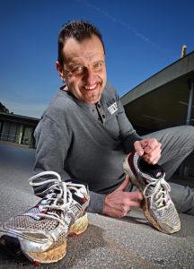 """""""Mister Linz Marathon"""" Ewald Tröbinger läuft auch selber ziemlich viel und ziemlich weit."""