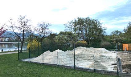 "Linzer Parkbad bekommt bis Anfang Mai einen 1.250 Quadratmeter großen ""Donaustrand"""