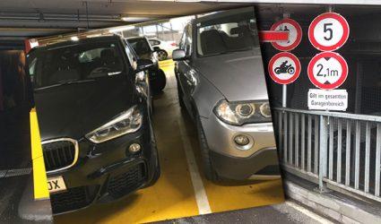 Enger geht's nimmer: Linzer Tiefgaragen als Herausforderung für autofahrende Verrenkungskünstler