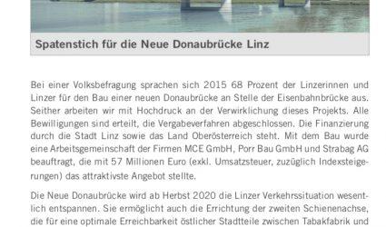 Neue Linzer Donaubrücke: Spatenstich fixiert!