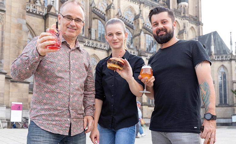 Die Soulfood Festival-Macher: Edi Altendorfer, Sommelière Kathrin und Paul Gürtler (v.l.)
