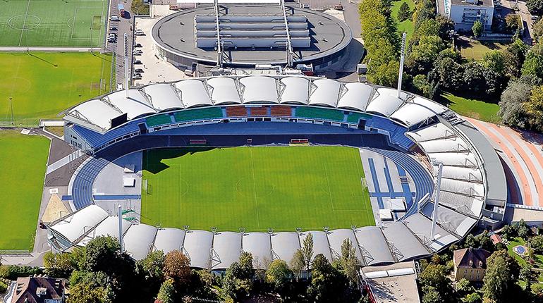 13.900 Fans haben im Europacup im Linzer Stadion Platz.