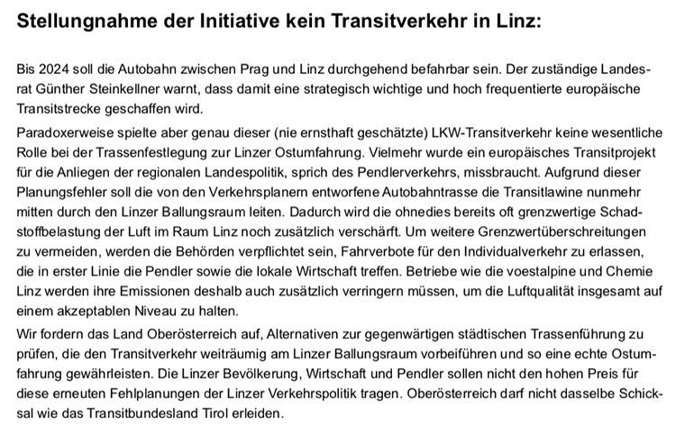Keintransitlinz
