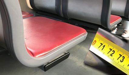 Knapper als bei Ryanair: Nur 73cm Sitzabstand in den Cityrunner-Straßenbahnen
