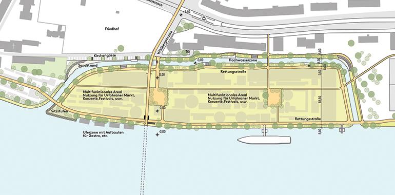 Immer klarer werden die Eckpunkte für das Jahrhundertprojekt Linzer Donauinsel