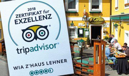 SO geht Gastro: Wia z'Haus Lehner erneut mit exzellenten Bewertungen