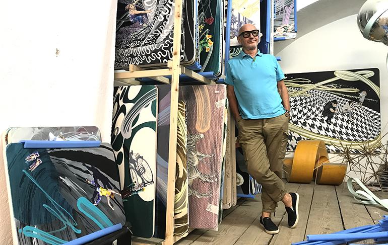 Baumretter und Künstler Beni Altmüller in seinem Atelier in Urfahr