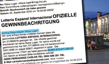Linzer Bürgermeister gewinnt 973 Millionen Euro im spanischen Lotto