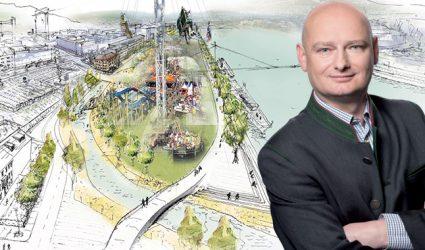 Leere Stadtkasse: Linzer Donauinsel droht die Lange Bank
