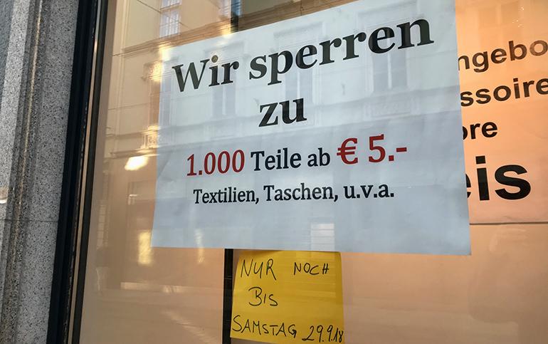 Auf der Linzer Landstraße und einigen Nebenstraßen gibt es teilweise hartnäckigen Geschäfts-Leerstand.