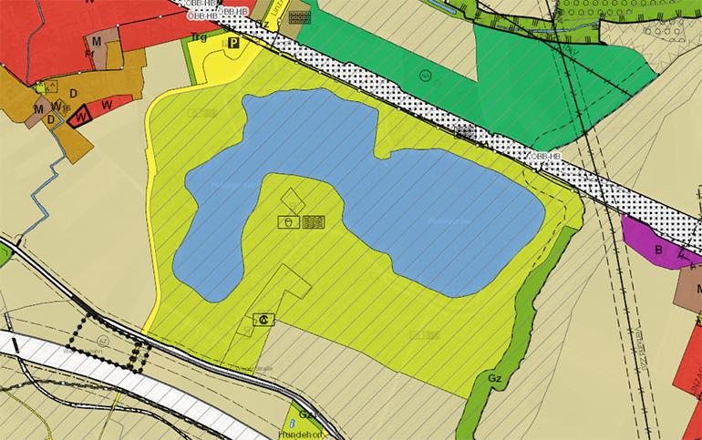 Der geplante Stadion-Standort am Pichlingersee befindet sich mitten im Naherholungsgebiet und ist wegen der aktuellen Widmungen (Naherholungsgebiet im Örtlichen Entwicklungskonzept, überregionaler Grünzug im Raumordnungsgesetz, Grünland im Flächenwidmungsplan)