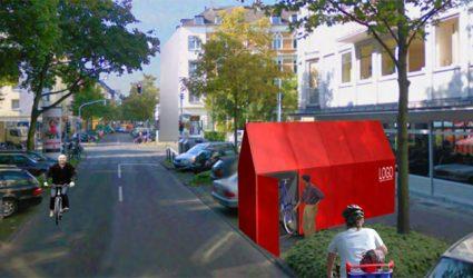 Radhäuschen sollen Radfahren in Linz attraktiver machen