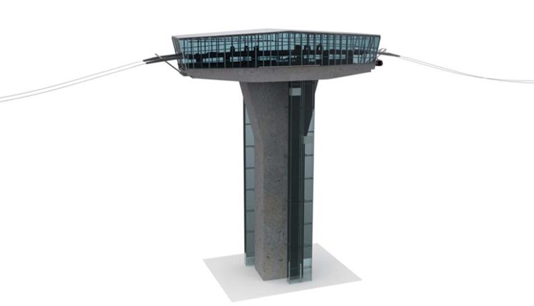 Bis zu 100 Meter hoch sollen die sieben Seilbahnstationen/Stützen ausgeführt werden.
