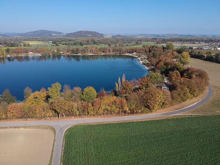 Der geplante Stadionstandort am Tagerfeld beim Pichlingersee.