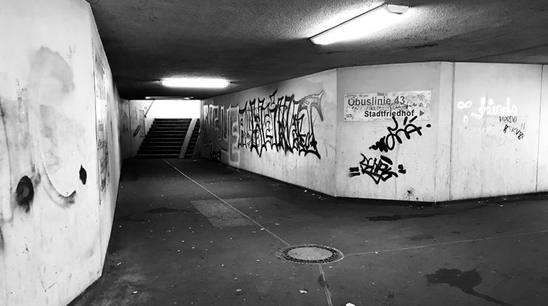 Die Passage in der Salzburgerstraße (Höhe Infracenter)