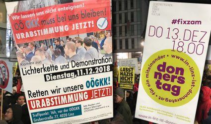 Kein Weihnachtsfrieden: GKK und Rot-Grün bitten zum Demo-Doppel gegen die Regierung