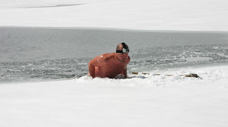 """""""Draußen ist es meist kälter als drin"""": Josef Köberl in seinem Element. (Foto: Christian Bruna)"""