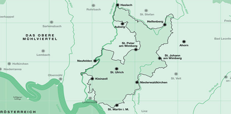 Die Wegstrecke des Granitpilgerwegs (Screenshot: granitpilgern.at)