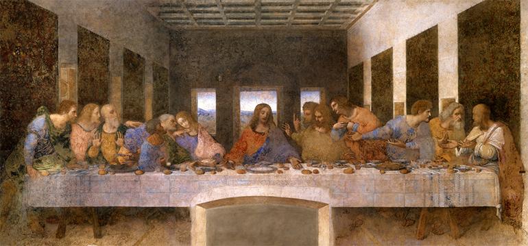 """Ebenfalls in Linz zu sehen: Replica von """"Das letzte Abendmahl"""" von Leonardo da Vinci (Foto: Scala Archives, Florenz)"""
